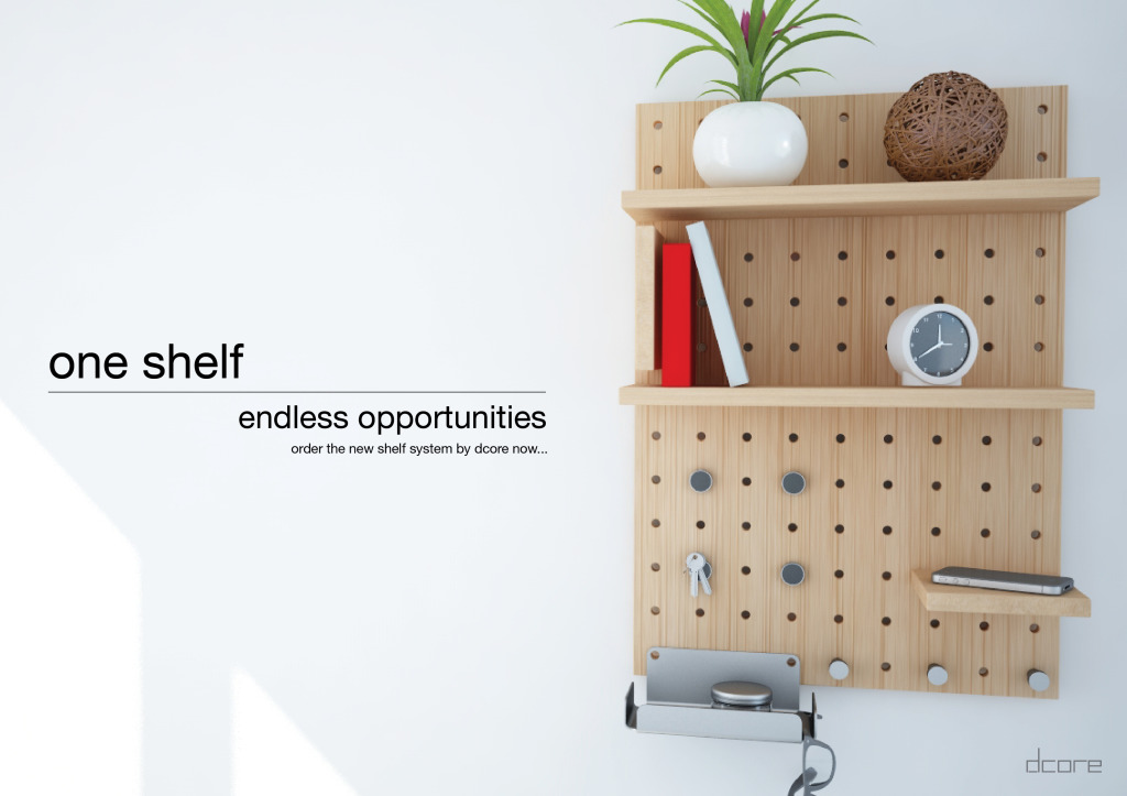 Modular Wood Shelf
